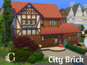Sims 4 — City Brick by GenkaiHaretsu — City mid class brick house, little old style.