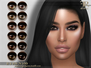 Sims 4 — FRS Eyes N109 by FashionRoyaltySims — Standalone Custom thumbnail All ages and genders 12 color options HQ