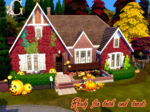 Sims 4 — Ready For Trick or treats by GenkaiHaretsu — Fall family house day bevore halloween.