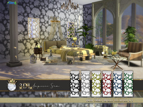 Sims 4 — 3DL Imperio Sim New Times Florals v1 by eddielle — Beautiful, romantic and contemporary floral motif wallpaper