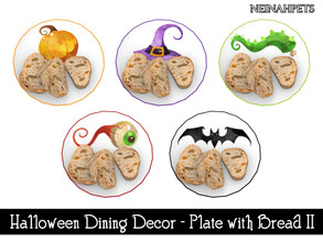 Sims 4 — Halloween Dining Decor - Plate with Bread II {Mesh Required} by neinahpets — A Halloween themed plate with a