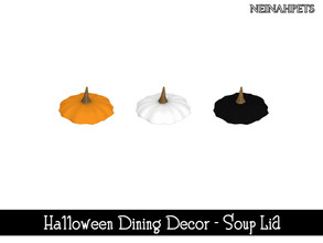 Sims 4 — Halloween Dining Decor - Soup Lid {Mesh Required} by neinahpets — A pumpkin soup bowl lid. 3 Colors