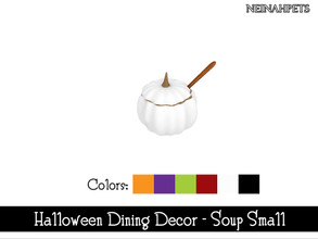 Sims 4 — Halloween Dining Decor - Soup Small {Mesh Required} by neinahpets — A small pumpkin soup bowl. 6 Colors