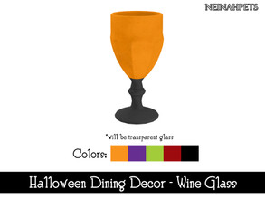 Sims 4 — Halloween Dining Decor - Wine Glass {Mesh Required} by neinahpets — A Gothic wine goblet glass. 5 Colors