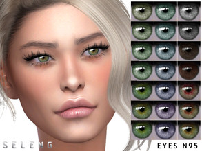 Sims 4 — Eyes N95 by Seleng — Toddler to Elder 21 colours Custom Thumbnail HQ mod compatible The picture was taken with