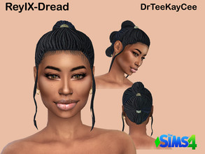 Sims 4 — ReyIX-Dreads ~ Base Compatible by drteekaycee — Star Wars fans here's a twist for Rey hairstyle! For the ethnic