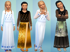 Sims 4 — Printed children dresses by Louisa_1 — Printed dresses for kids Dress recolored