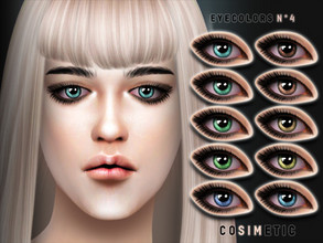 Sims 4 — COSIMETIC Eyecolors N4 by cosimetic — - This eyecolor can use on all genders and from teen to elder. - Contains