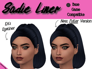 Sims 4 — Sadie Liner by INFAMOUSSIMS18 — Looking for a more Bold winged eyeliner? Look no further! -Base Game Compatible