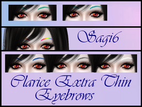 Sims 4 — Clarice_ExtraThin_Eyebrows - Sagi6 by sagi6 — *Base game mesh *Only females *Teen to elder *18 swatches