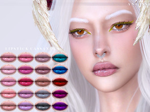Sims 4 — Lipstick-Cassandra by ANGISSI — Previews made with HQ mod ❤ For all questions go here