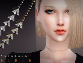 Sims 4 — Bobur Necklace 17 by Bobur2 — Necklace for female 4 colors HQ I hope you like it