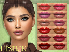 Sims 4 — [MH] Lipstick N35 by MagicHand — --20 available colors-- --Compatible with HQ settings-- --CAS thumbnail--