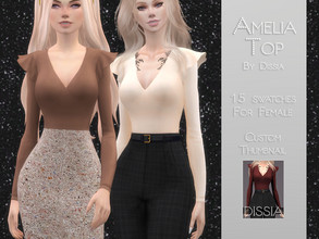 Sims 4 — Amelia Top by Dissia — Amelia Top 15 swatches Hope you like it ;)