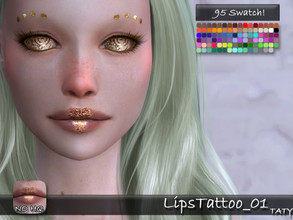 Sims 4 — [Ts4]Taty_LipsTattoo_01 by tatygagg — - Female, Male - Human, Alien - Teen to Elder - Hq Compatible - Skin