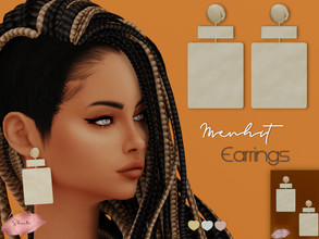Sims 4 — Menhit Earrings by Shanti_ — * 3 swatches * Disallowed for random * Teen to Elder * Female * Base game