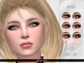 Sims 4 — Realistic Eye N14 - All ages by remaron — -20 Swatches -Custom CAS thumbnail -All age category -Both gender
