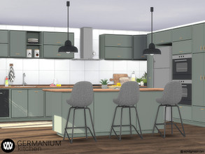 Sims 4 — Germanium Kitchen Part I by wondymoon — Germanium kitchen part I; Surfaces! **Stoves are not functional! Have
