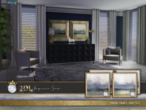 Sims 4 — 3DL Imperio Sim New Times Art v3 by eddielle — Elegant paintings for your Sim home. Digital hand-painting by