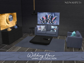 Sims 4 — Witching Hour Living {Mesh Required} by neinahpets — An enchanting living room suite in 12 color schemes to
