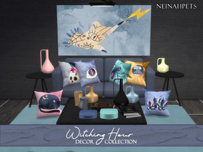 Sims 4 — Witching Hour Decor {Mesh Required} by neinahpets — A decorative collection in 12 colors and a bewitching spell