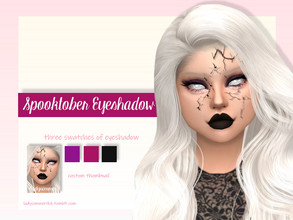 Sims 4 — Spooktober Eyeshadow by LadySimmer94 — BGC 3 swatches Custom Thumbnail (as seen on the ad) Teen / Elder Male /