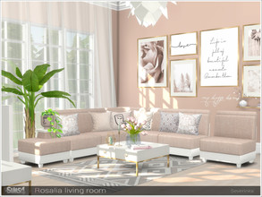 Sims 4 — Rosalia livingroom by Severinka_ — A set of furniture for the decoration of the living room. The set includes 9