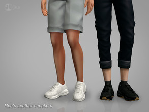 Sims 4 — Jius-Men's Leather sneakers 01 by Jius — -Men's Leather sneakers -3 colors -Everyday/Athletic -Custom thumbnail