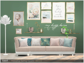 Sims 4 — Rosalia livingroom decor by Severinka_ — A set of decor for the decoration of the living room. The set includes
