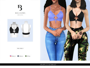 Sims 3 — Strappy Cut Out Bralet by Bill_Sims — YA/AF Everyday/Formal Available for Maternity Recolorable - 1 Channel 2