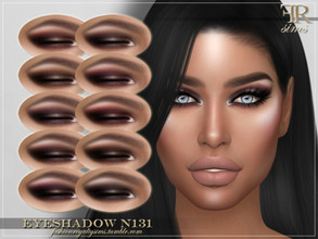 Sims 4 — FRS Eyeshadow N131 by FashionRoyaltySims — Standalone Custom thumbnail 10 color options HQ texture Compatible