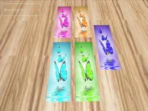 Sims 4 — Butterfly Yoga Mat-REQUIRES SPA DAY by momfnh48 — Follow me on tumblr - https://www.tumblr.com/blog/tricsimmer