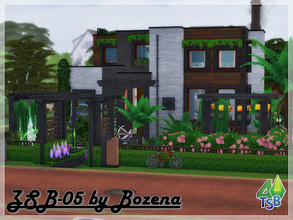 Sims 4 — ZSB-05. by Bozena — The very center of the city Brindleton Bay . A modern lot for your family. You can relax in