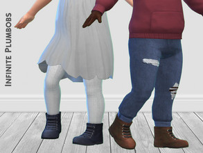 Sims 4 — IP Toddler Doc Martens - Seasons by InfinitePlumbobs — Toddler Doc Martens - 6 Swatches - Suitable for Female