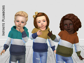 Sims 4 — IP Toddler Autumn Block Hoodie  by InfinitePlumbobs — Toddler Autumn Block Hoodie - 10 Swatches - Suitable for