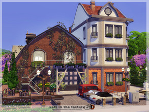 Sims 4 — Loft in the factory by Danuta720 — This old historic factory has been converted into an apartment. On the ground