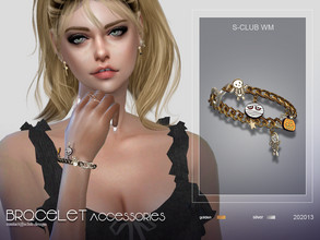 Sims 4 — S-Club WM ts4 bracelet 202013 by S-Club — Bracelet, 6 swatches, hope you like, thank you.