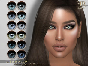 Sims 4 — FRS Eyes N110 by FashionRoyaltySims — Standalone Custom thumbnail All ages and genders 12 color options HQ