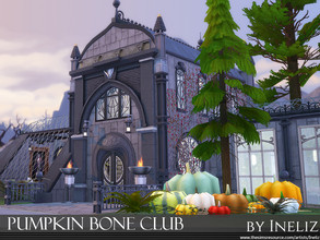 Sims 4 — Pumpkin Bone Club by Ineliz — The Pumpkin Bone Club is a perfect place for entertainment, good food and drinks.