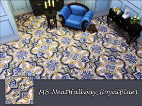 Sims 4 — MB-NeatHallway_RoyalBlue1 by matomibotaki — MB-NeatHallway_RoyalBlue1, elegant vintage tile floor, part of the