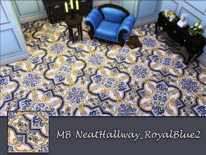Sims 4 — MB-NeatHallway_RoyalBlue2 by matomibotaki — MB-NeatHallway_RoyalBlue2, elegant vintage tile floor, part of the