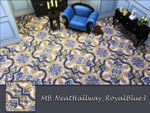 Sims 4 — MB-NeatHallway_RoyalBlue3 by matomibotaki — MB-NeatHallway_RoyalBlue3, elegant vintage tile floor, part of the