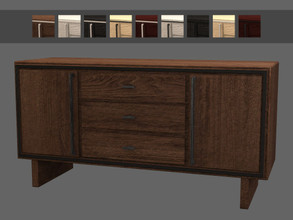 Sims 4 — Wedgewood Sideboard by sim_man123 — A large natural-finish wooden sideboard.