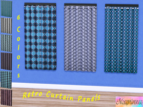 Sims 4 — Retro Curtain Panel Collection - Dine out required by msaprilrenee — 6 retro style panels for your windows. By
