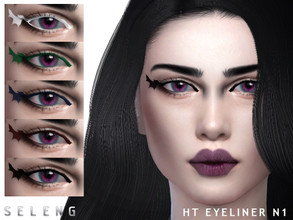 Sims 4 — HT Eyeliner N1 by Seleng — Female Teen to Elder 6 swatches Custom Thumbnail HQ compatible The picture was taken
