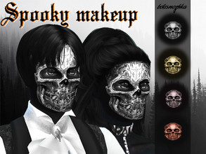Sims 4 — Spooky Halloween Makeup by Belosnezhka2 — 638KB valid for men and women not valid for children and toddlers no