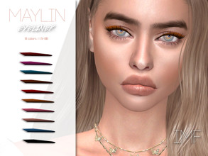 Sims 4 — IMF Maylin Eyeliner N.108 by IzzieMcFire — Maylin Eyeliner N.108 contains 10 colors in hq texture. Standalone
