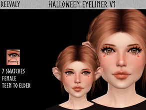 Sims 4 — Halloween Collabration with PlayersWonderland V1 by Reevaly — 7 Swatches. Teen to Elder. For Female. Base Game