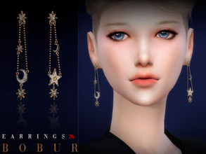 Sims 4 — Bobur Earrings 26 by Bobur2 — Earrings for female 3 colors HQ I hope you like it