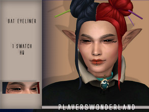 Sims 4 — Bat Eyeliner - CC Colaboration Part 1 by PlayersWonderland — This is part one of the CC colaboration with